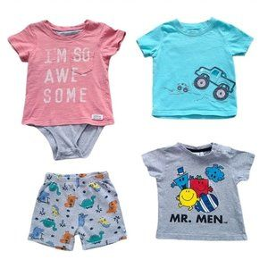 Lot of Boys Short Sleeve Tops and Shorts 24 months